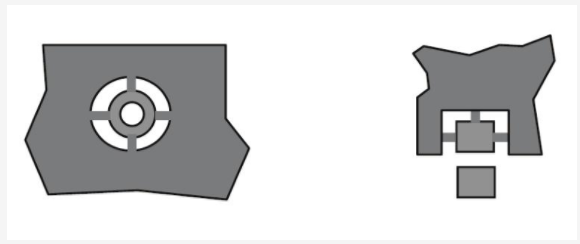 """焊盘与铜箔间以""""米""""字形或""""十""""字形连接"""